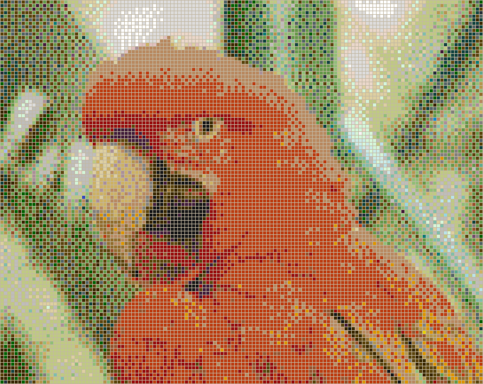Red and Green Macaw - Mosaic Tile Picture Art