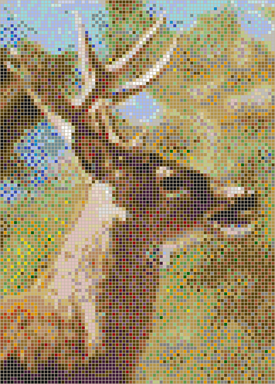 Whitetail Stag - Mosaic Tile Picture Art