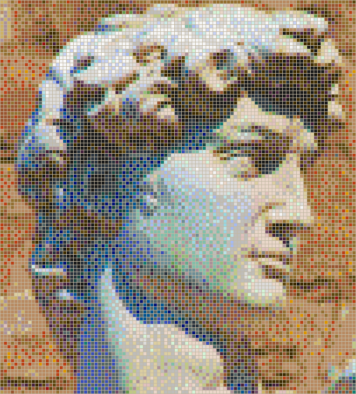 Head of Michelangelo's David - Mosaic Tile Picture Art