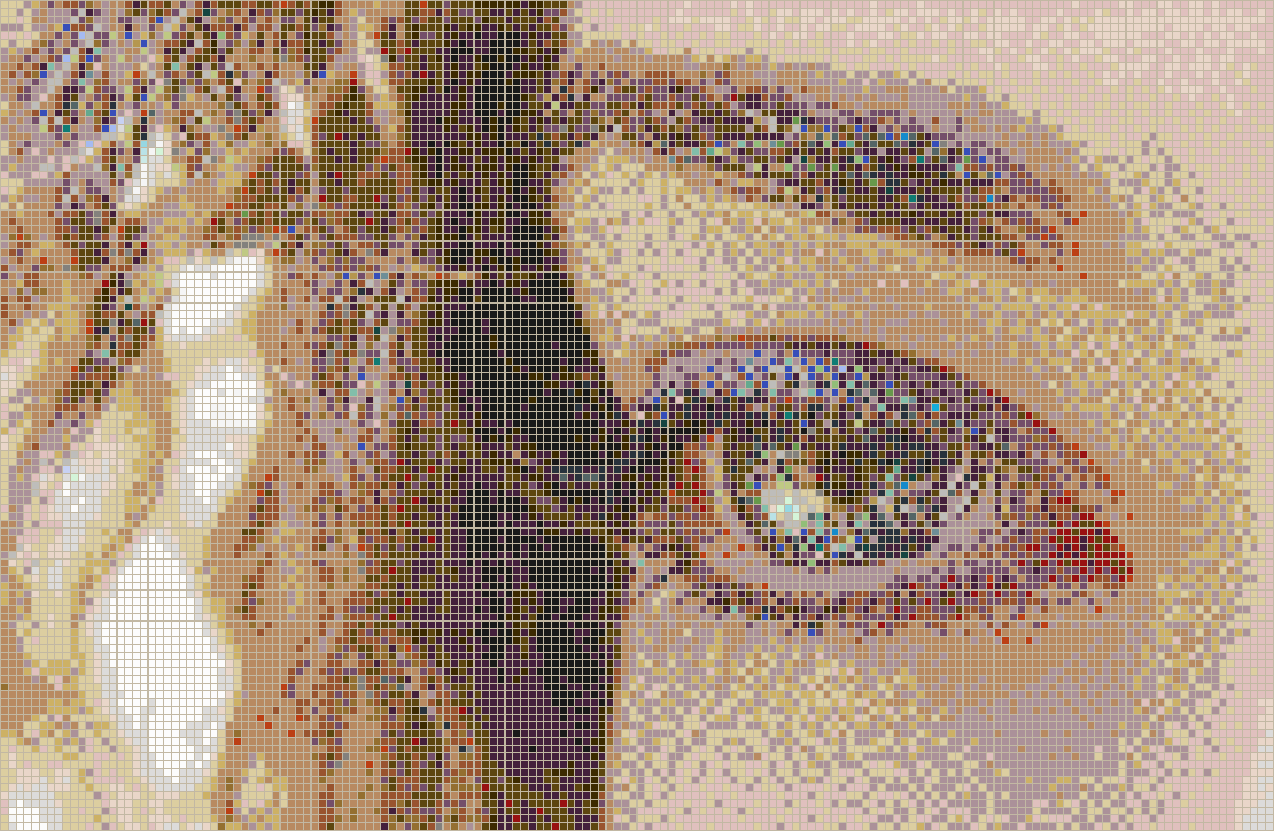 Curly Eye (Alice) - Mosaic Tile Picture Art