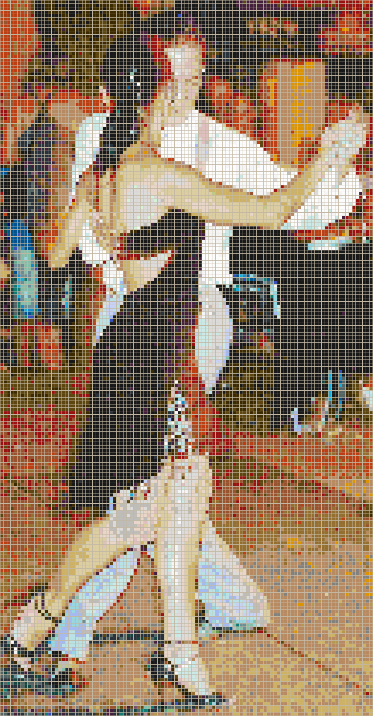 Tango Dancers in Buenos Aires - Mosaic Tile Picture Art