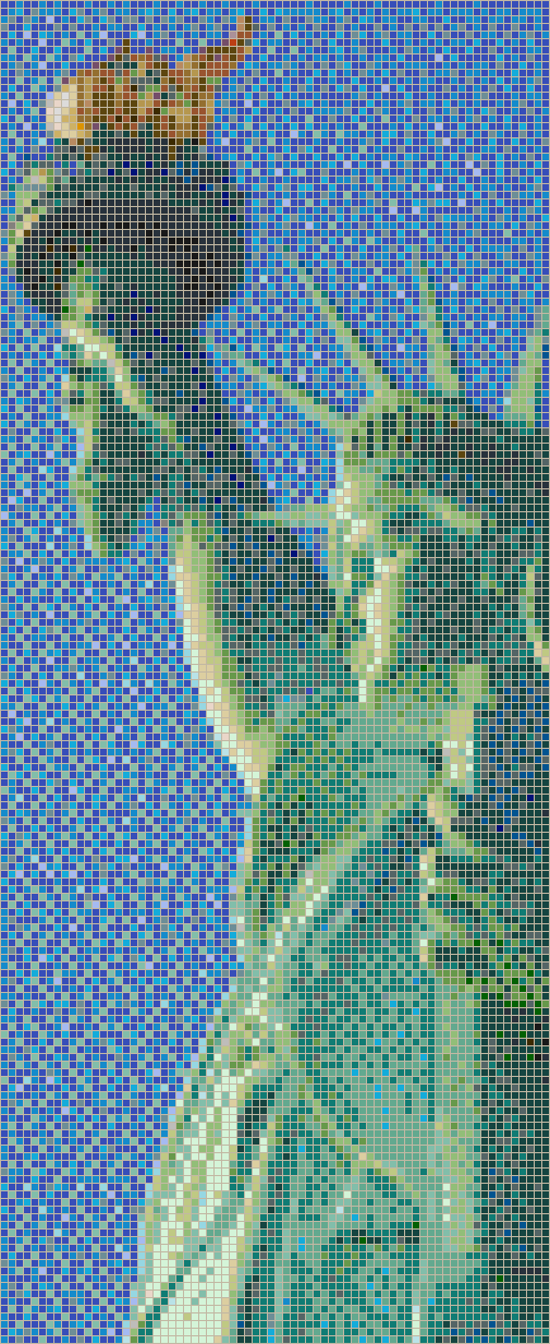 Statue of Liberty (Profile) - Mosaic Tile Picture Art