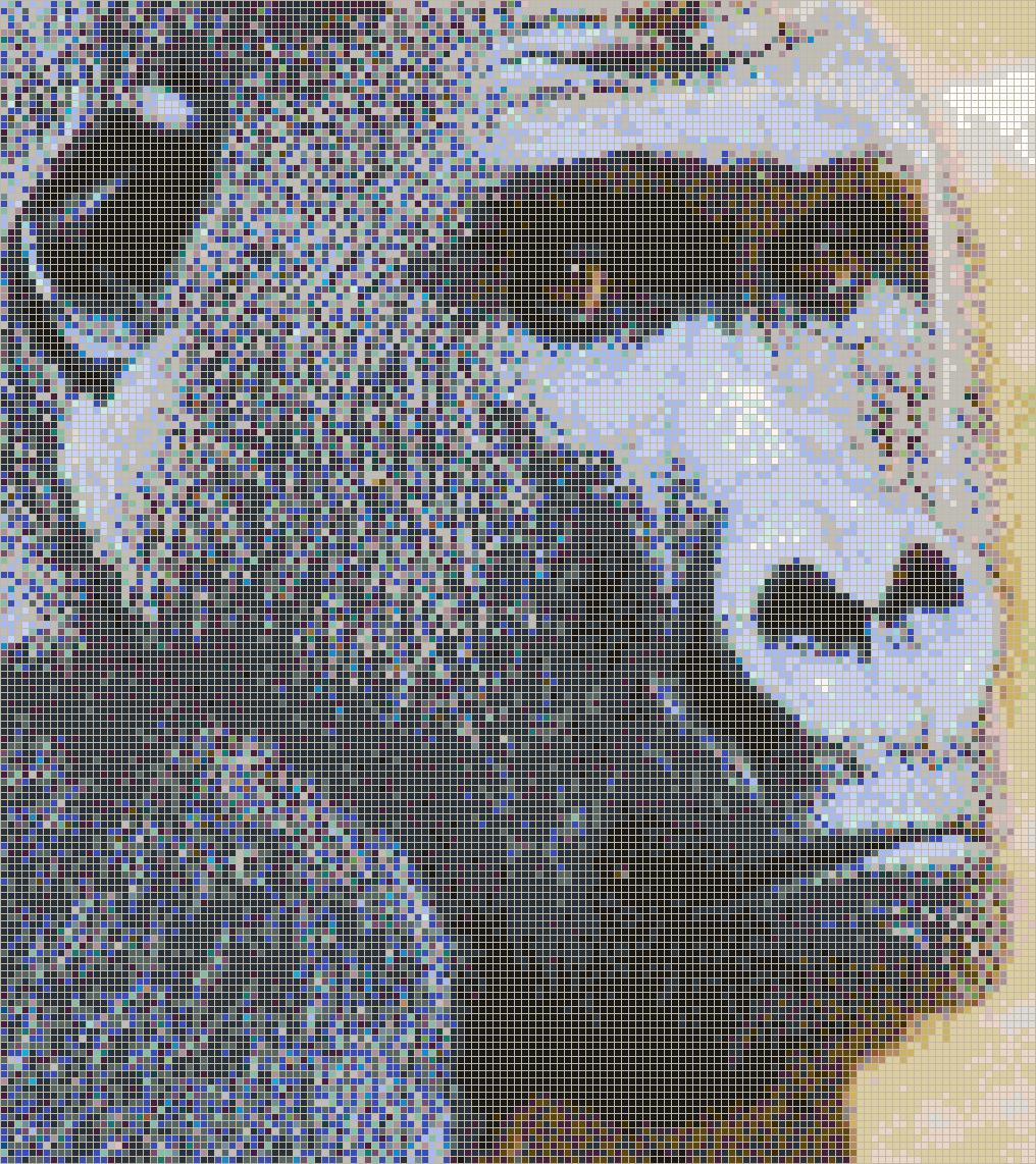 Gorilla Face - Mosaic Tile Picture Art
