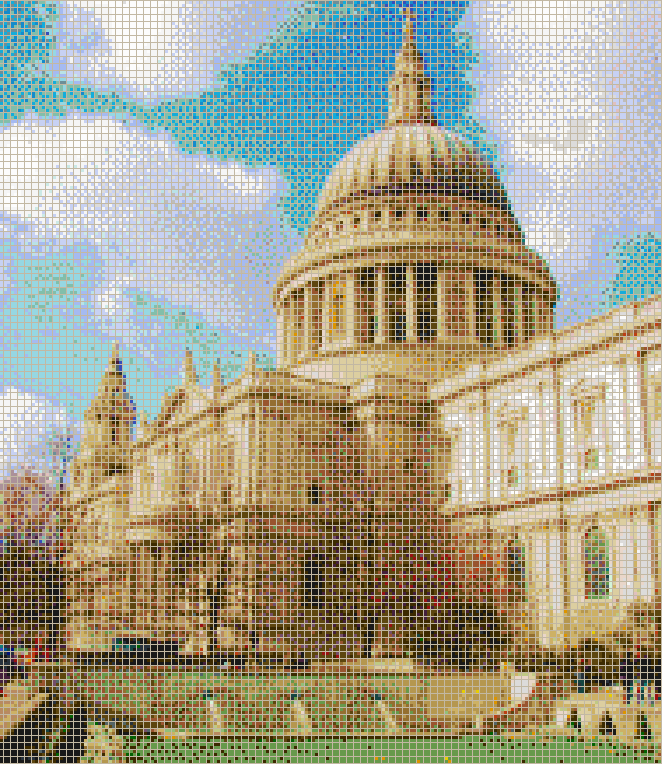 St. Paul's Cathedral - Mosaic Tile Picture Art