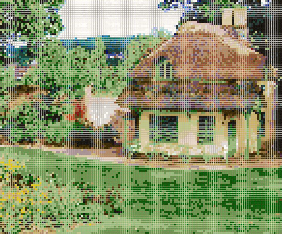 Cottage Dairy (John Nash) - Mosaic Tile Picture Art