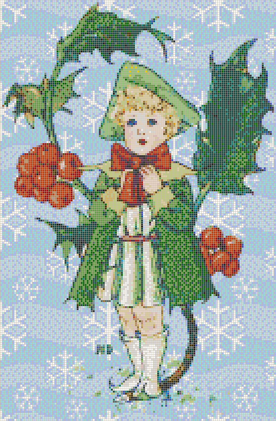 Holly Girl - Mosaic Tile Picture Art