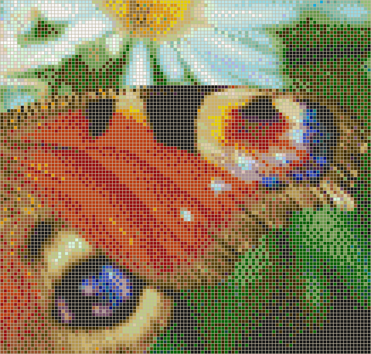 Peacock Butterfly Wing - Mosaic Tile Picture Art
