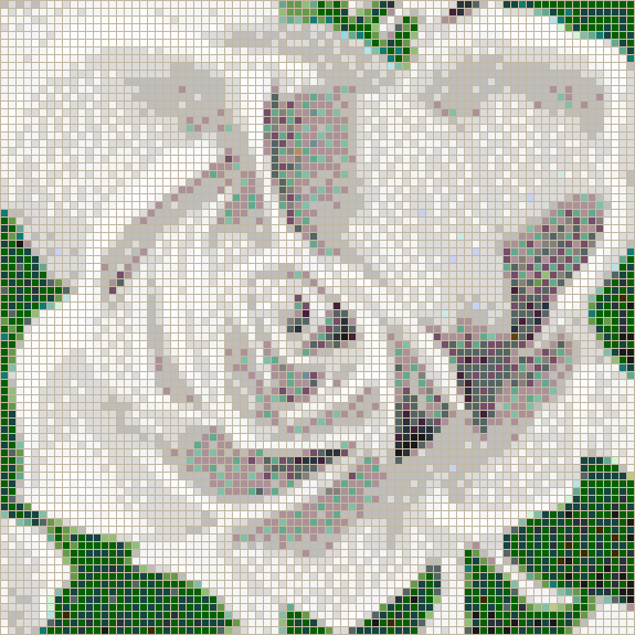 Fairy Rose (White) - Mosaic Tile Picture Art