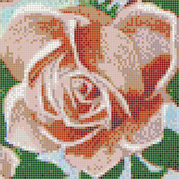 Fairy Rose (Pink) - Mosaic Tile Picture Art