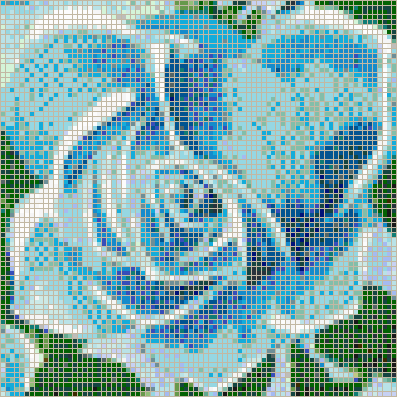 Fairy Rose (Turquoise) - Mosaic Tile Picture Art