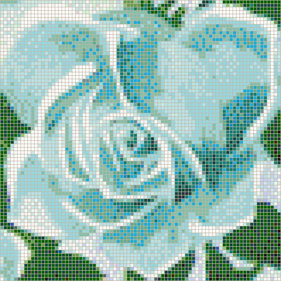 Fairy Rose (Marine) - Mosaic Tile Picture Art