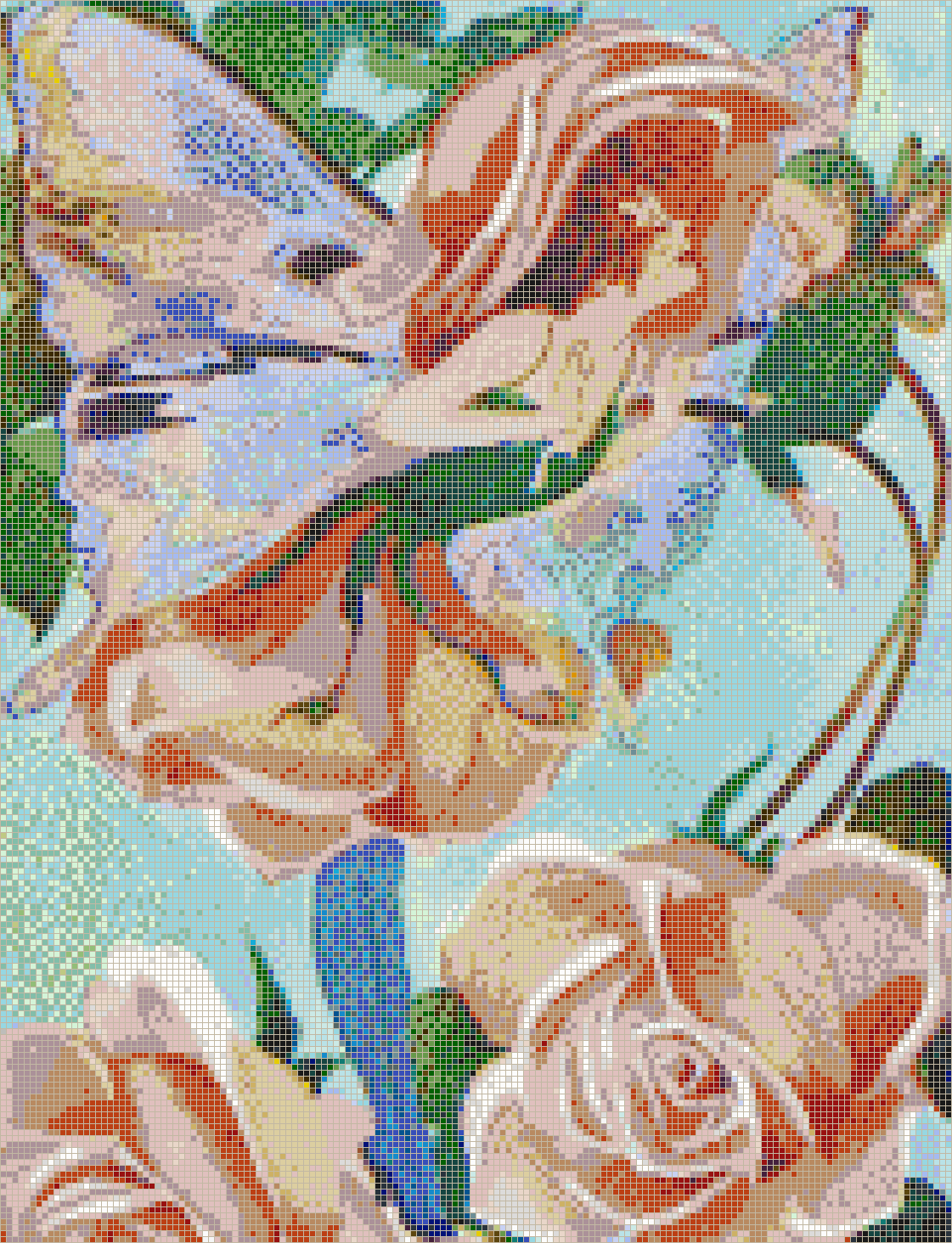 Rose Flower Fairy - Mosaic Tile Picture Art