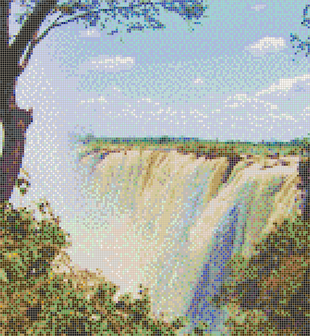 Victoria Falls Waterfall - Mosaic Tile Picture Art