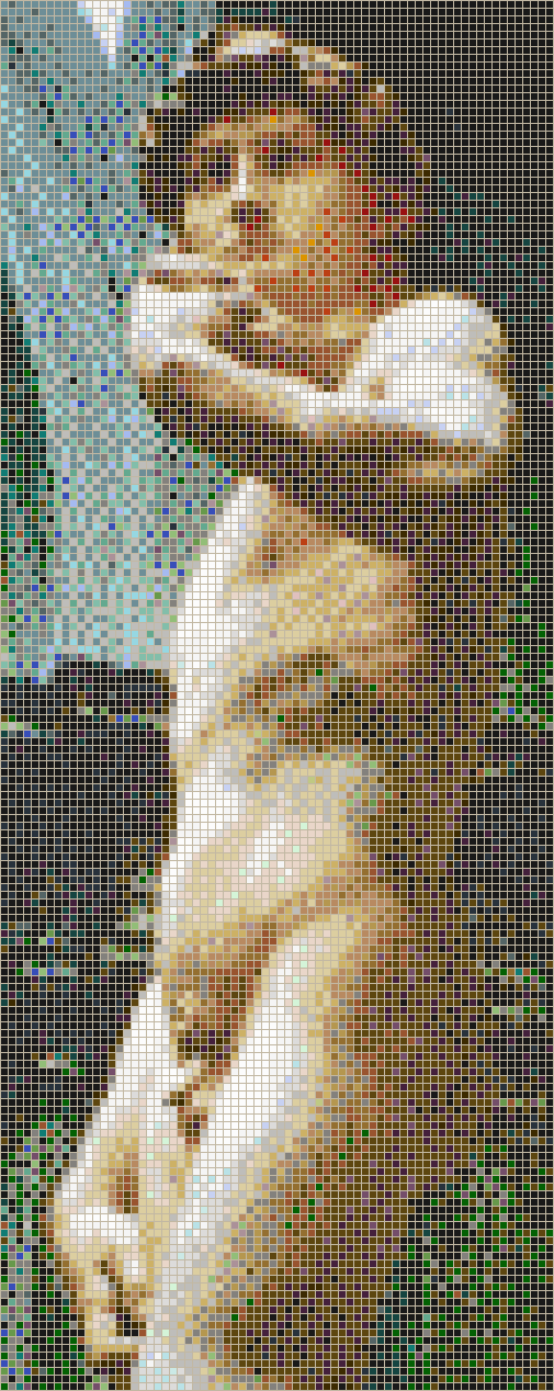 Michelangelo's David (Side View) - Mosaic Tile Picture Art