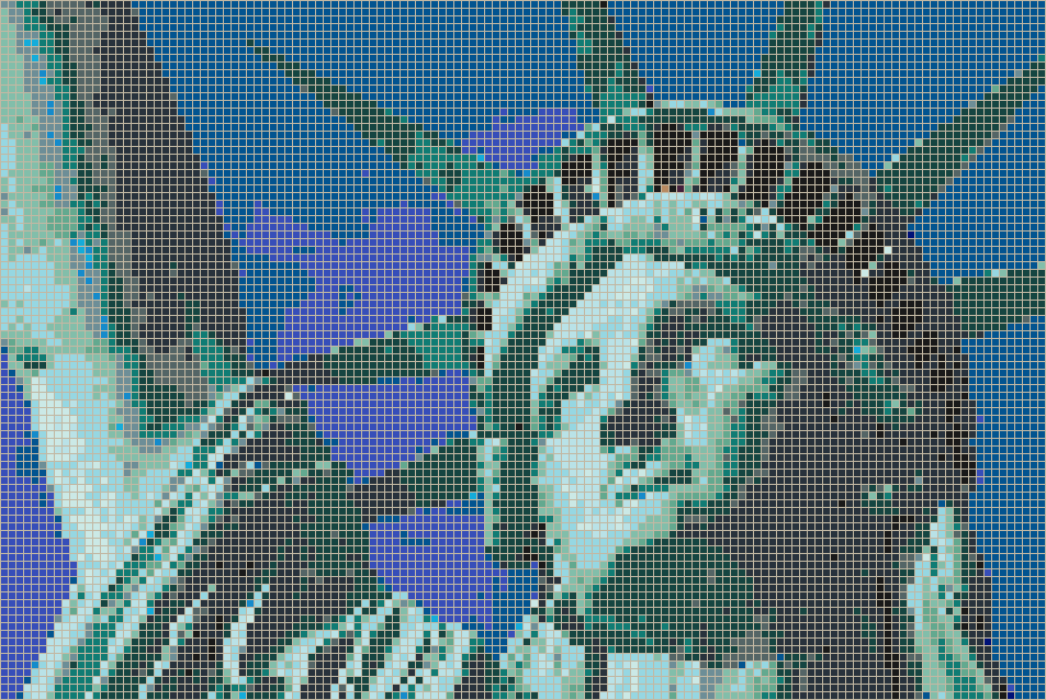 Statue of Liberty (Face) - Mosaic Tile Picture Art