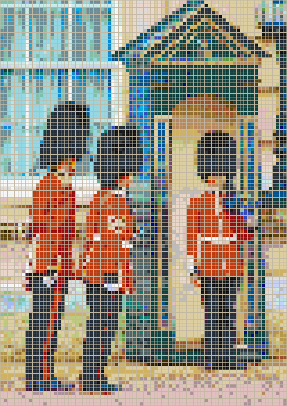 Buckingham Palace Guards - Mosaic Tile Picture Art