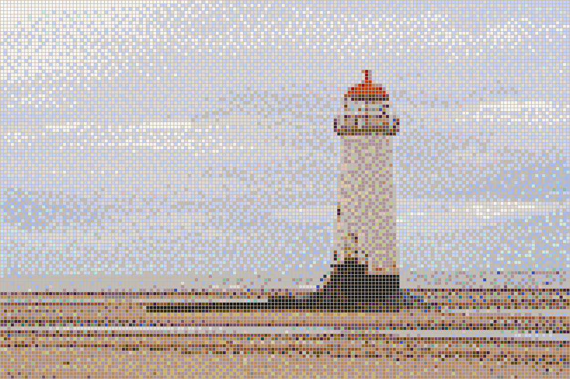 Talacre Lighthouse (North Wales) - Mosaic Tile Picture Art