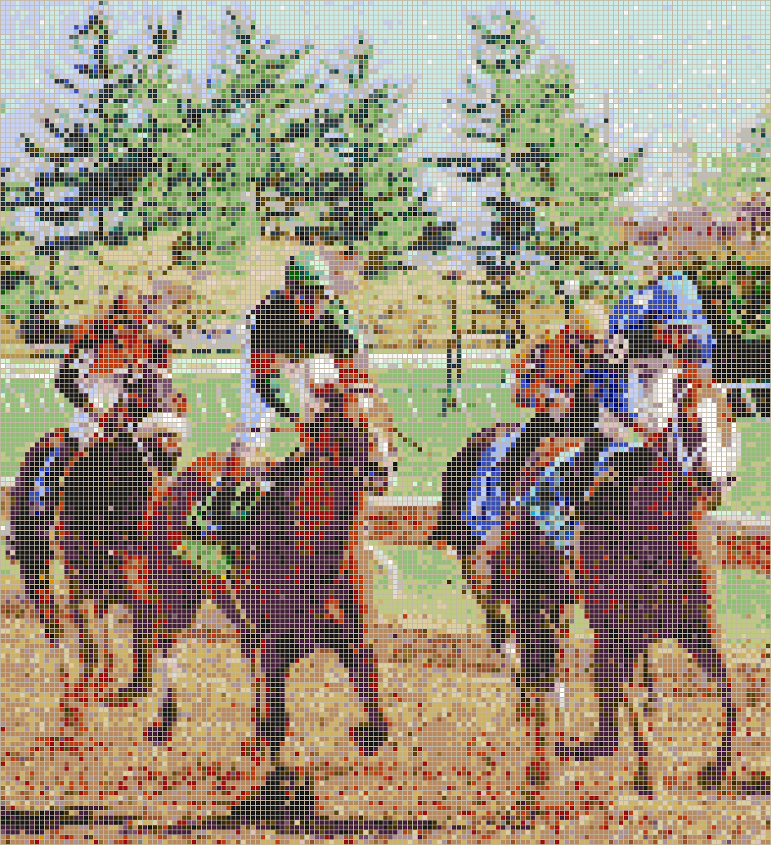 Horse Racing (Keeneland Race Track) - Mosaic Tile Picture Art