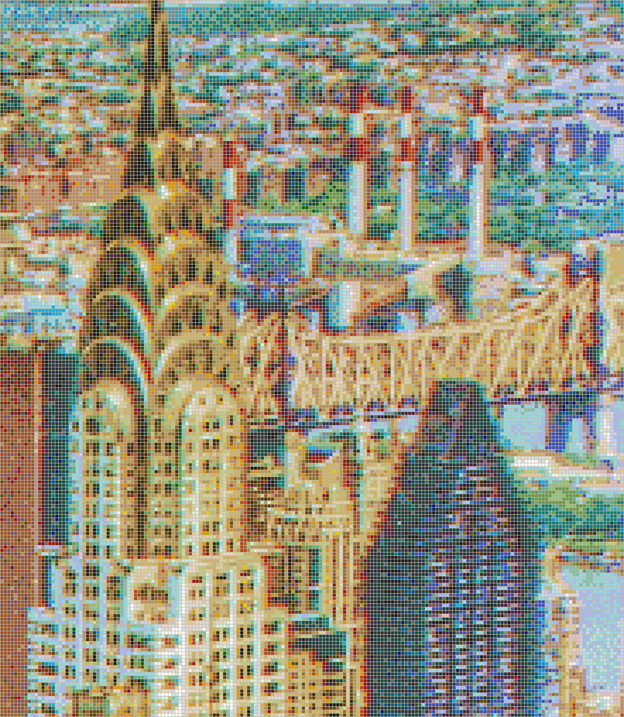 Chrysler Building from the Empire State - Mosaic Tile Picture Art
