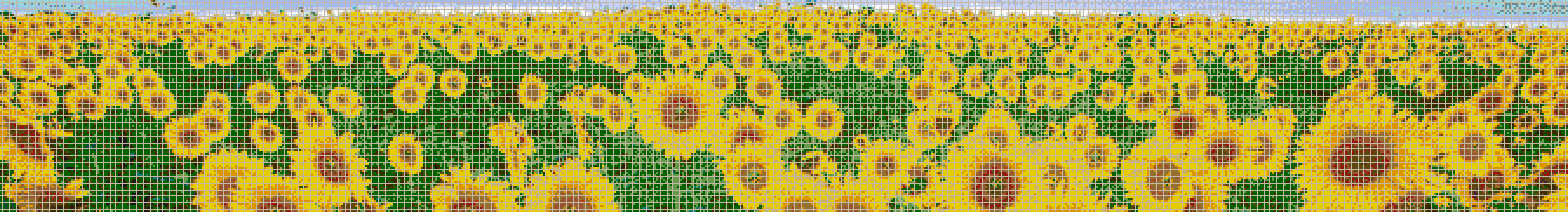 Sunflower Sky - Mosaic Tile Picture Art