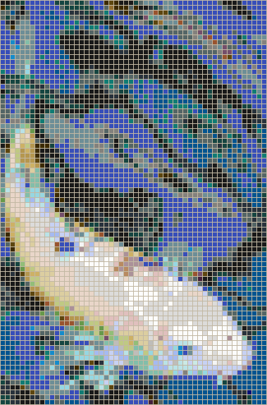 Koi on Blue - Mosaic Tile Picture Art