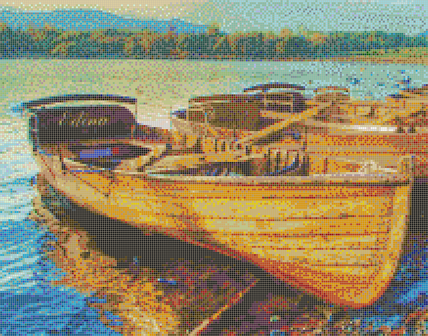 Derwentwater Boats (Lake District) - Mosaic Tile Picture Art