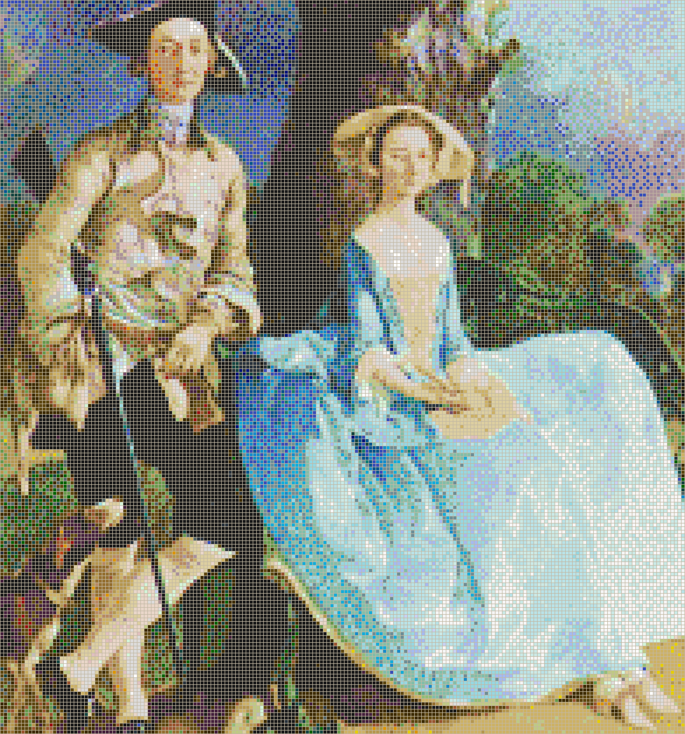 Mr and Mrs Andrews (Gainsborough) - Mosaic Tile Picture Art