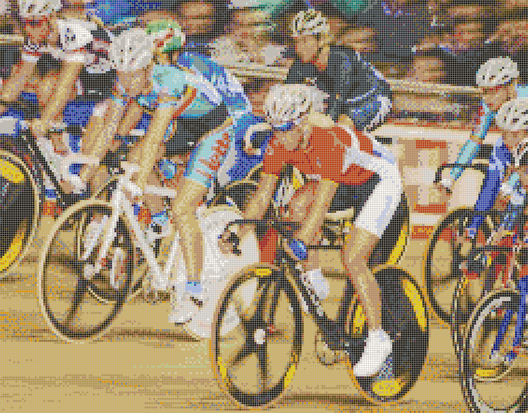 Women Cycling (Points Race) - Mosaic Tile Picture Art