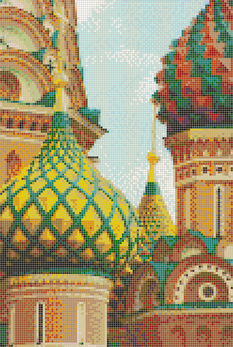 Detail of St Basils Cathedral (Moscow) - Mosaic Tile Picture Art