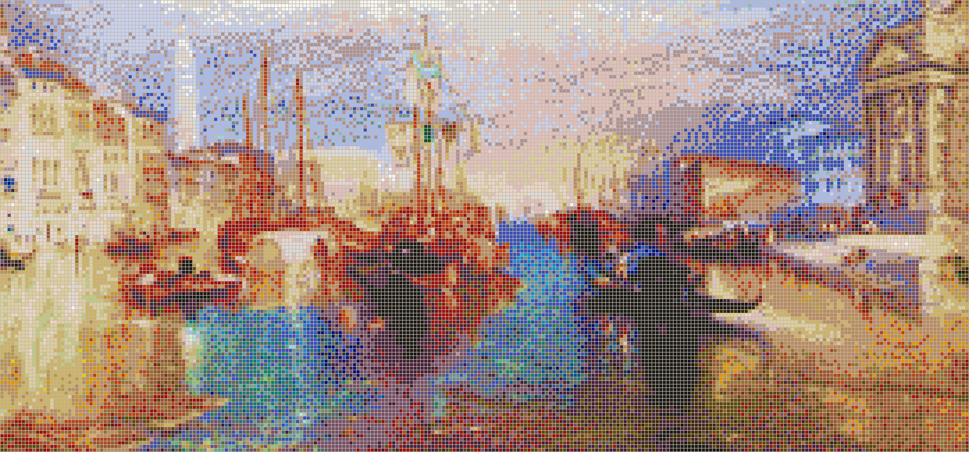 The Grand Canal, Venice (Turner) - Mosaic Tile Picture Art
