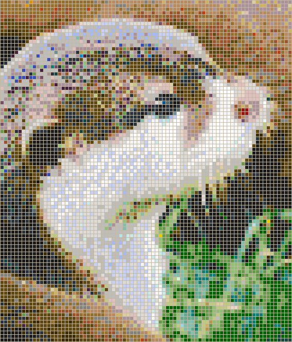 Otter Face - Mosaic Tile Picture Art