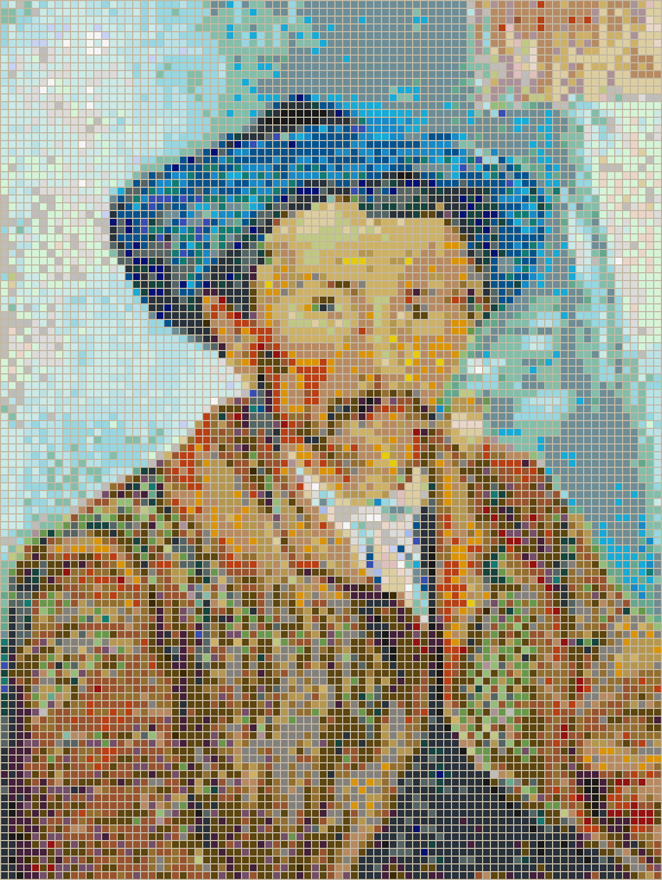 The Smoker (Van Gogh) - Mosaic Tile Picture Art
