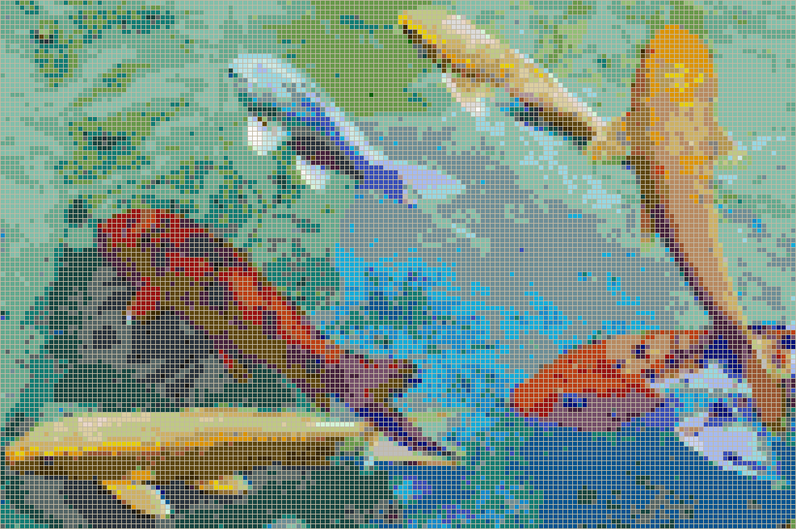 Rainbow Koi - Mosaic Tile Picture Art