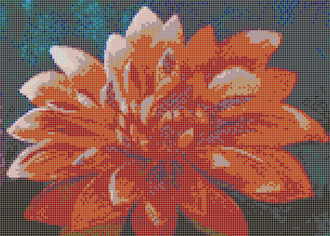 The Dahlia - Mosaic Tile Picture Art