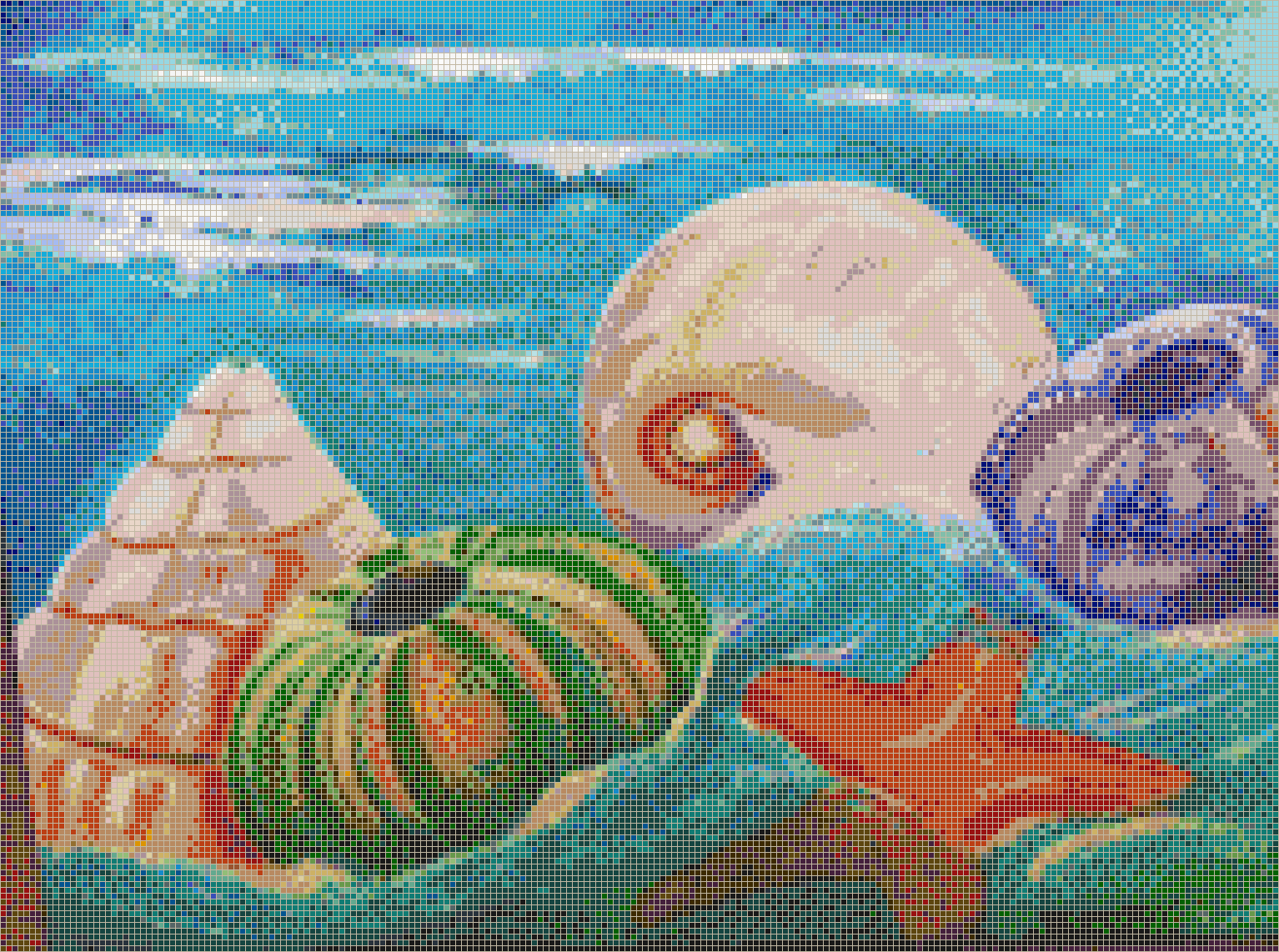 Swirling Sea Shells - Mosaic Tile Picture Art