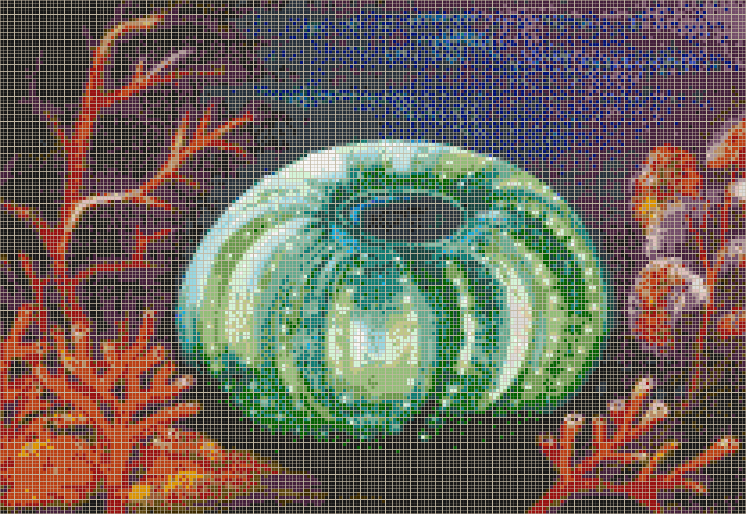 Emerald Urchin - Mosaic Tile Picture Art