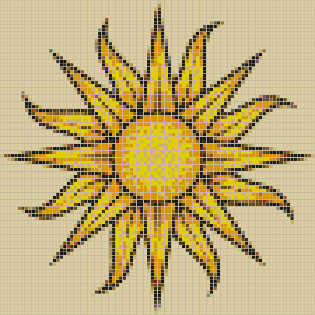 Sun (on fawn) - Mosaic Tile Picture Art