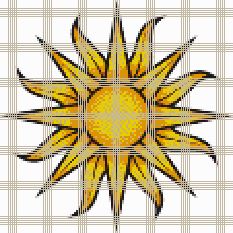 Sun (on white) - Mosaic Tile Picture Art