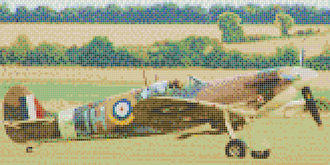 Spitfire on Grass - Mosaic Tile Picture Art