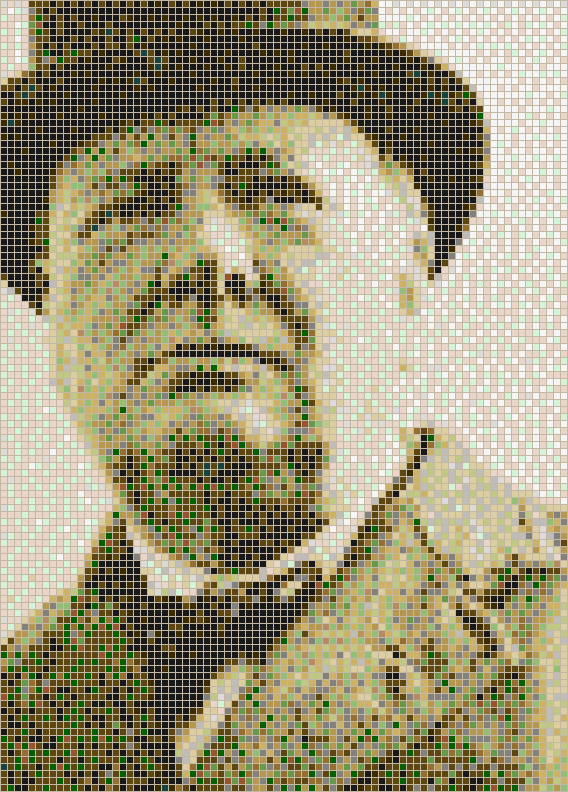 Sir Winston Churchill - Mosaic Tile Picture Art