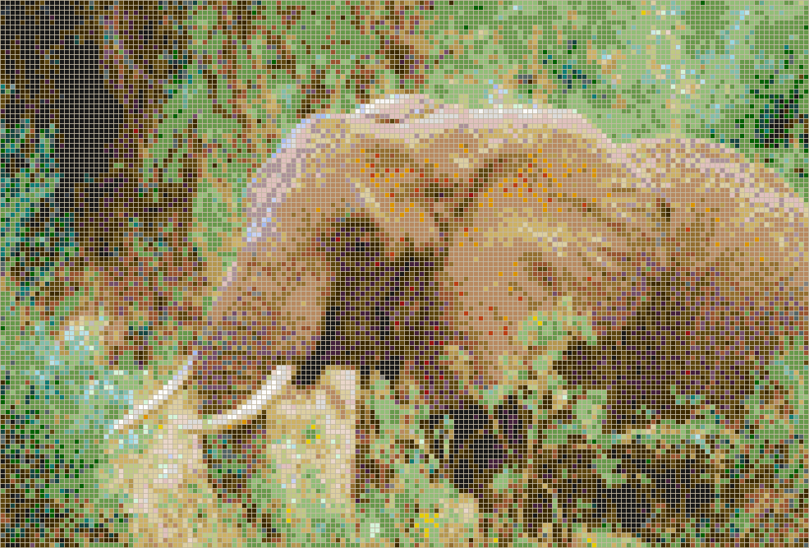 African Elephant - Mosaic Tile Picture Art