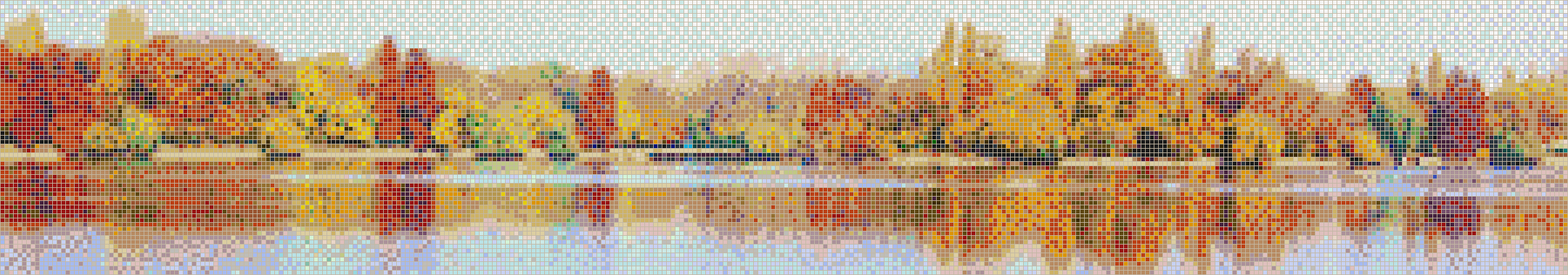 Autumn on the Lake - Mosaic Tile Picture Art