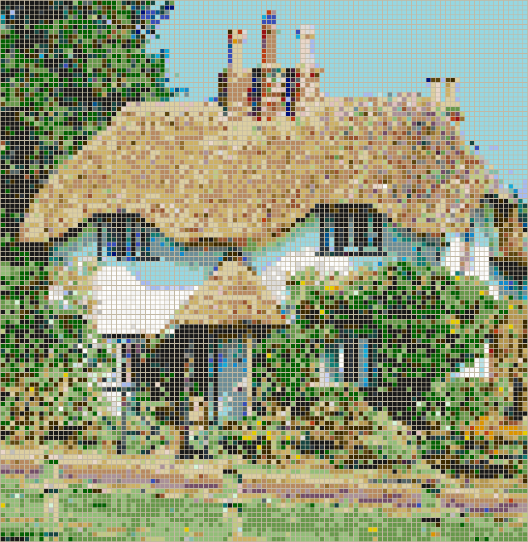 New Forest Cottage - Mosaic Tile Picture Art