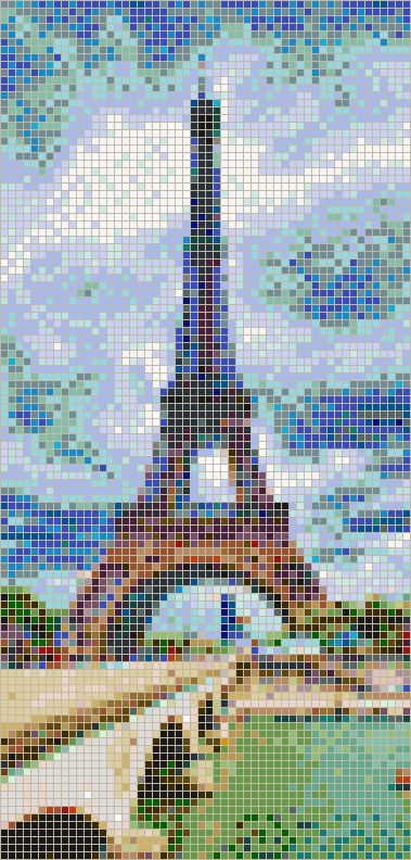 Eiffel Tower (Stormy) - Mosaic Tile Picture Art