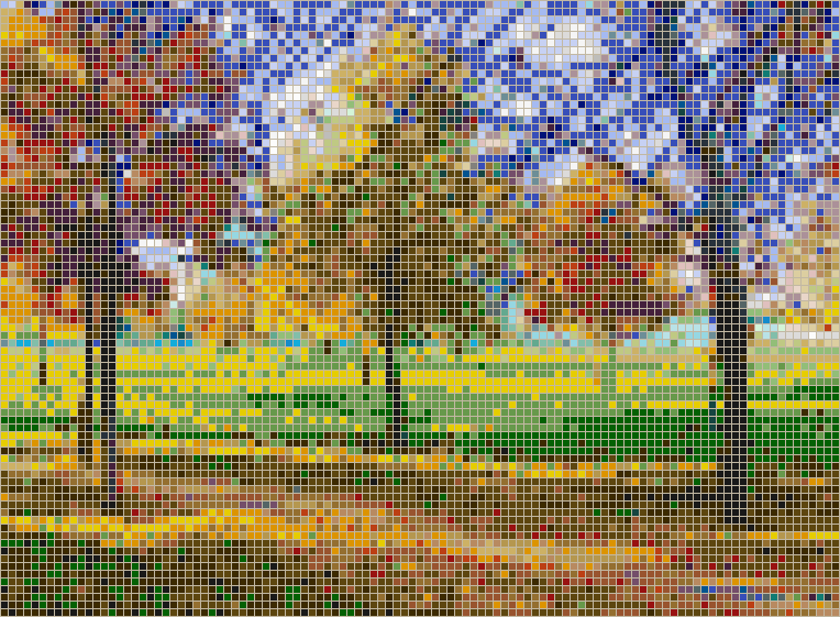 Autumn in the Park - Mosaic Tile Picture Art