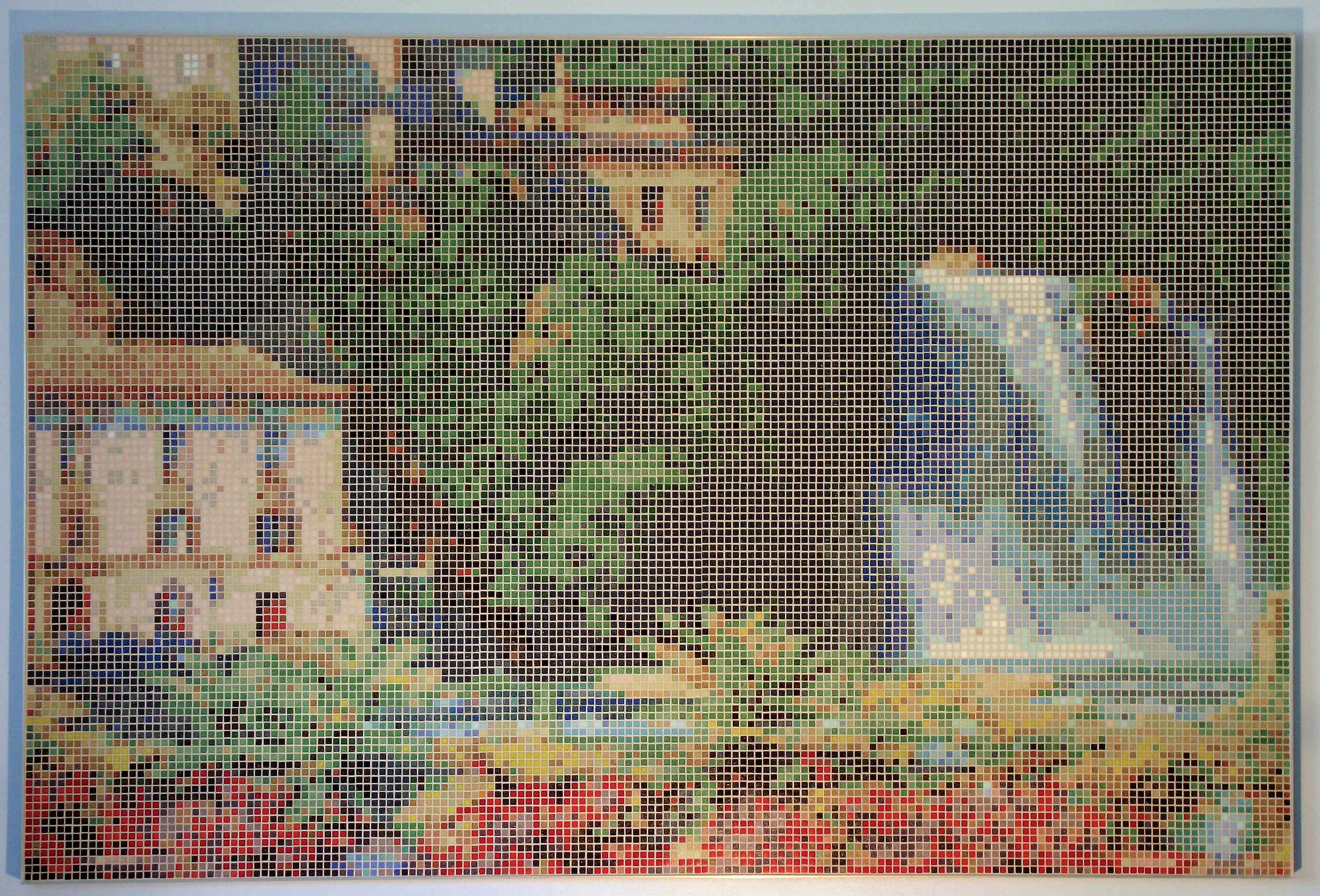 Italian Waterfall (Isola Liri) Framed Mosaic