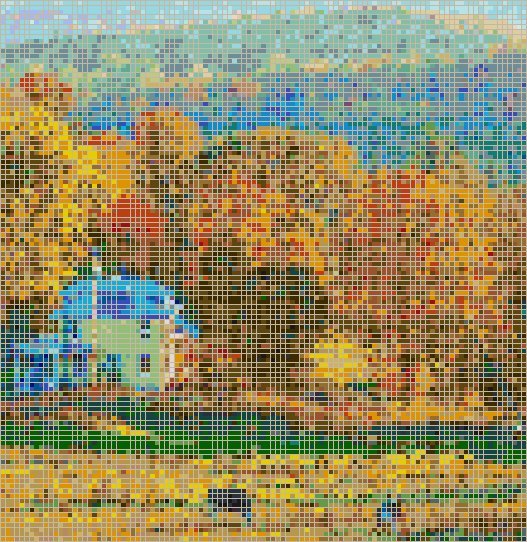 New England in the Fall (Vermont) - Mosaic Tile Picture Art