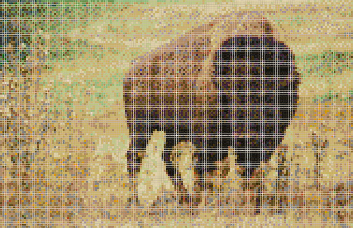 American Bison - Mosaic Tile Picture Art