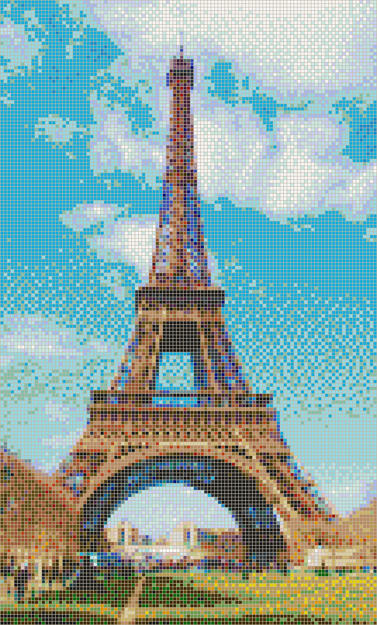Eiffel Tower - Mosaic Tile Picture Art