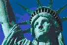 Statue of Liberty (Face) - Framed Mosaic Wall Art